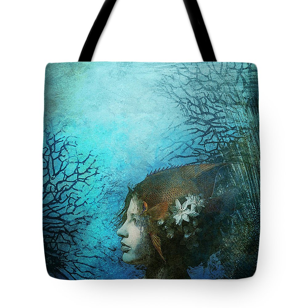 Aimee Stewart Tote Bag featuring the digital art Angel by Aimee Stewart