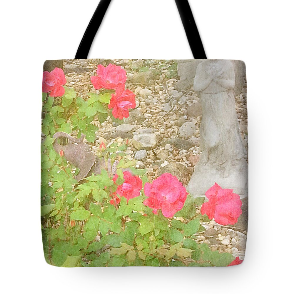Angel Tote Bag featuring the photograph Angel And Elephant by Alys Caviness-Gober