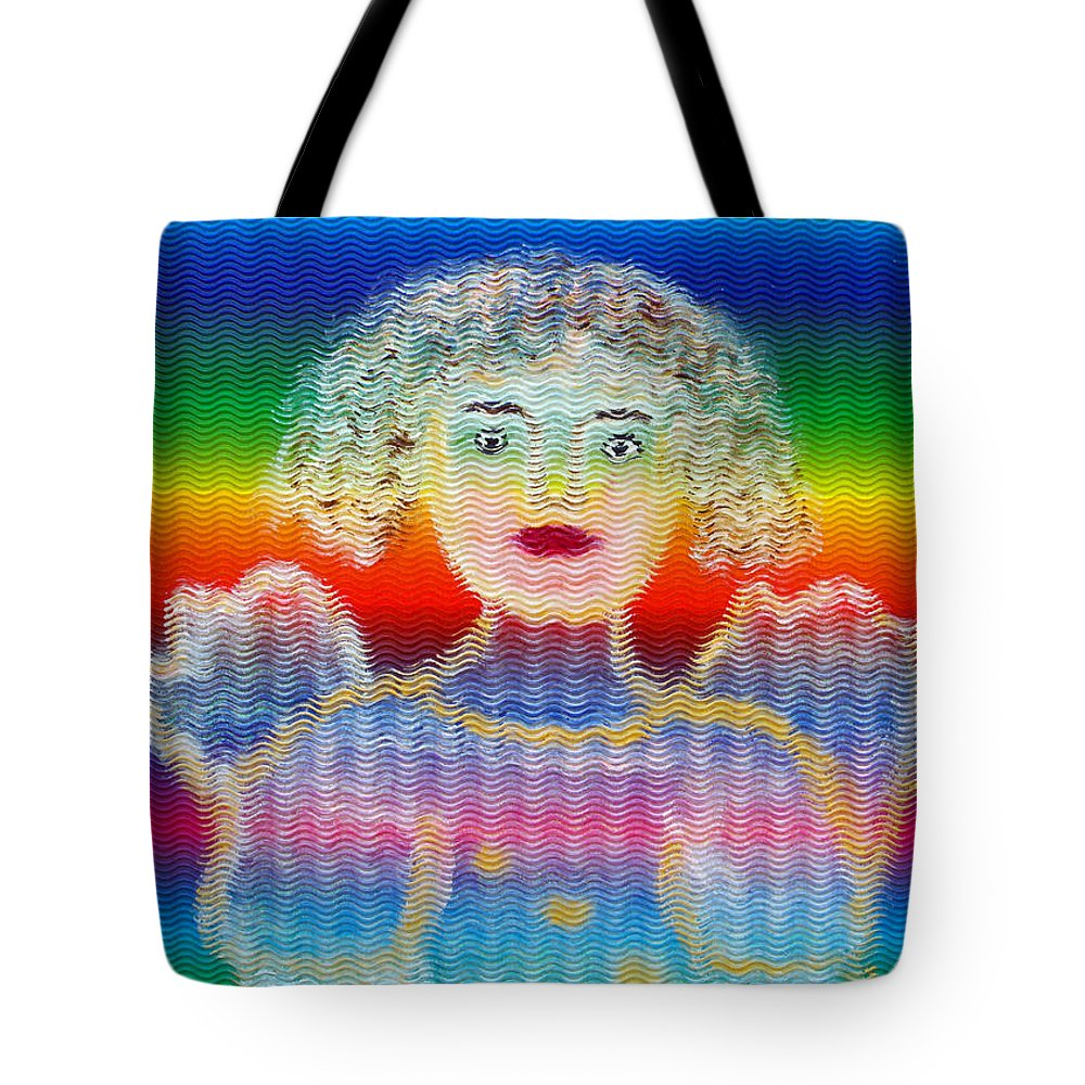 Angel Tote Bag featuring the painting Angel by Augusta Stylianou