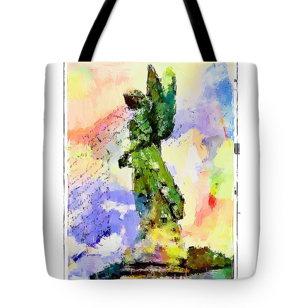 Angel Tote Bag featuring the photograph Angel Colors by Alice Gipson