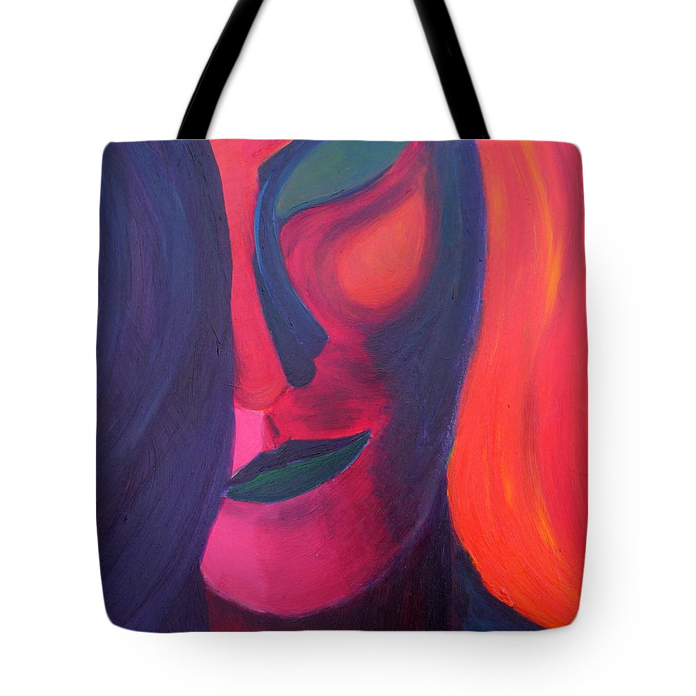 Surreal Tote Bag featuring the painting Angel by Daina White