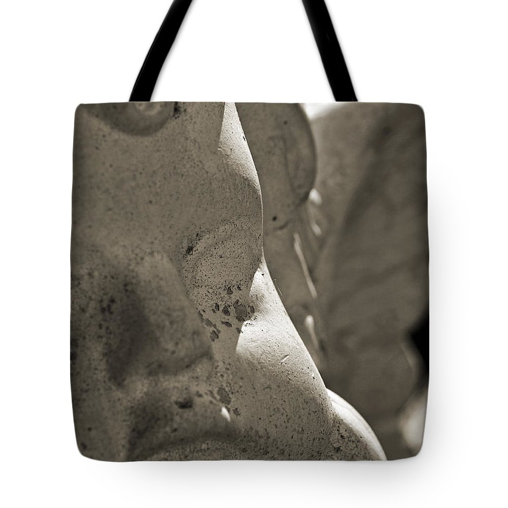 Angel Face Tote Bag featuring the photograph Angel Face by Christine Stonebridge
