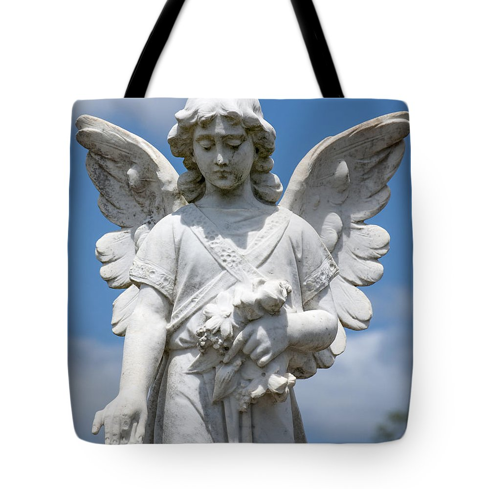 Angel Tote Bag featuring the photograph Angel Tombstone Series by Rodney Appleby