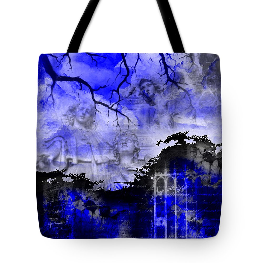 Angels Tote Bag featuring the digital art Angels In Gothica by Michael Damiani