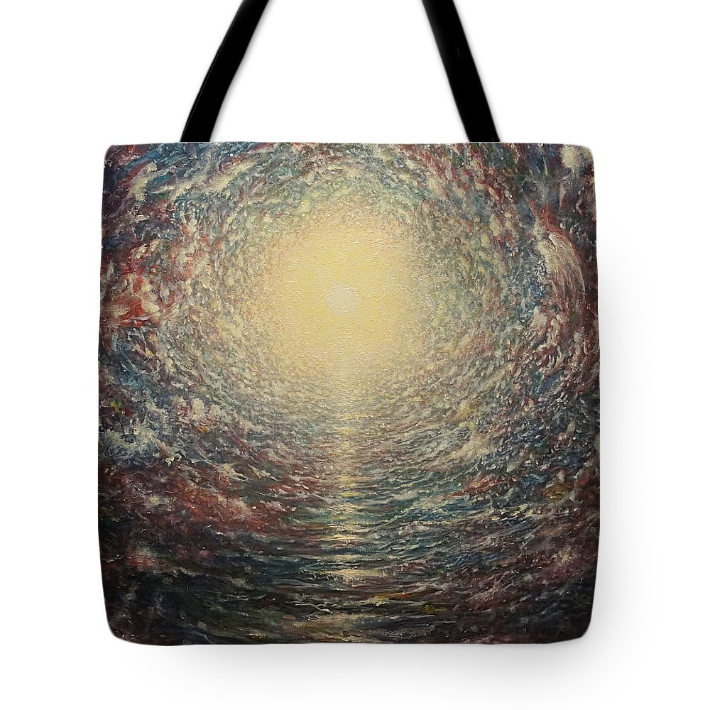 Sun Tote Bag featuring the painting Angels by Karma Moffett