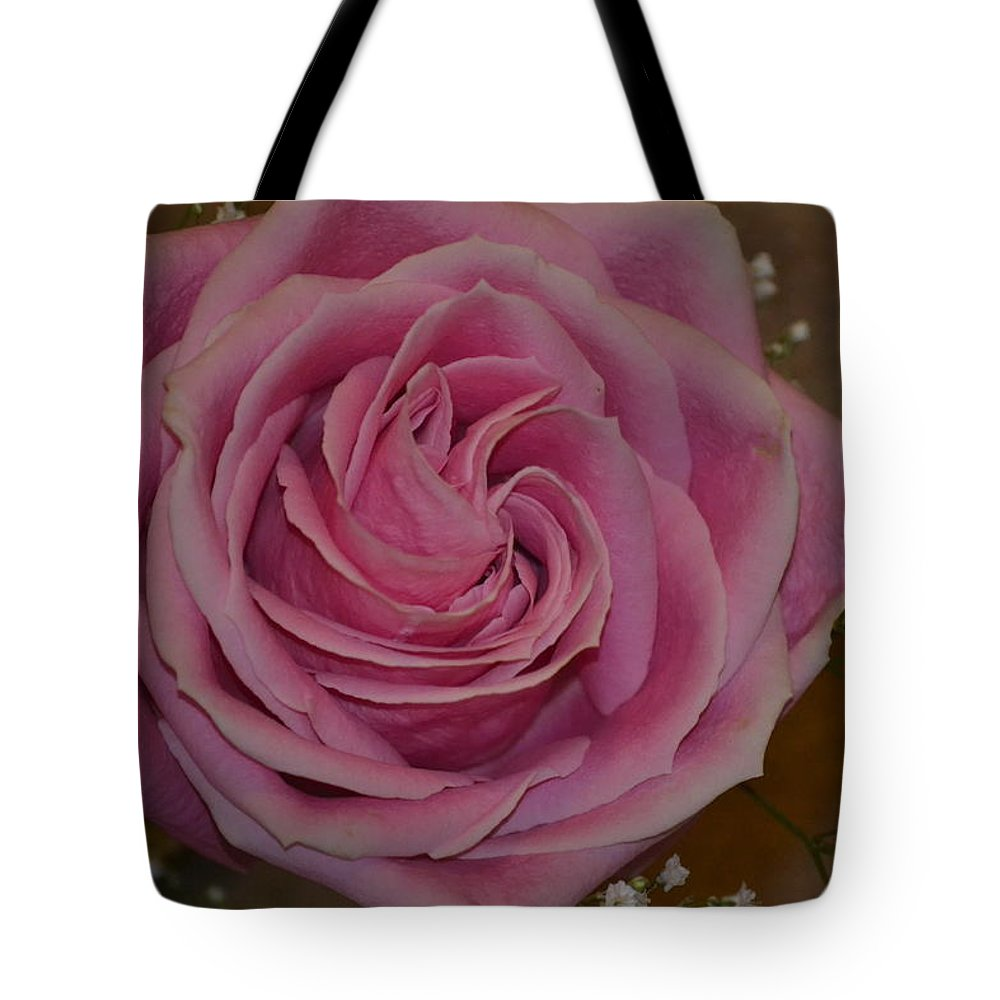 Flower Tote Bag featuring the photograph Angel's Pink Rose by Michael Steckler