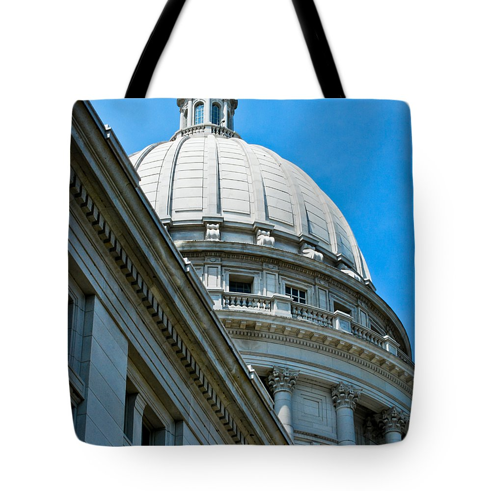 Angle Tote Bag featuring the photograph Angle On The Capitol by Christi Kraft