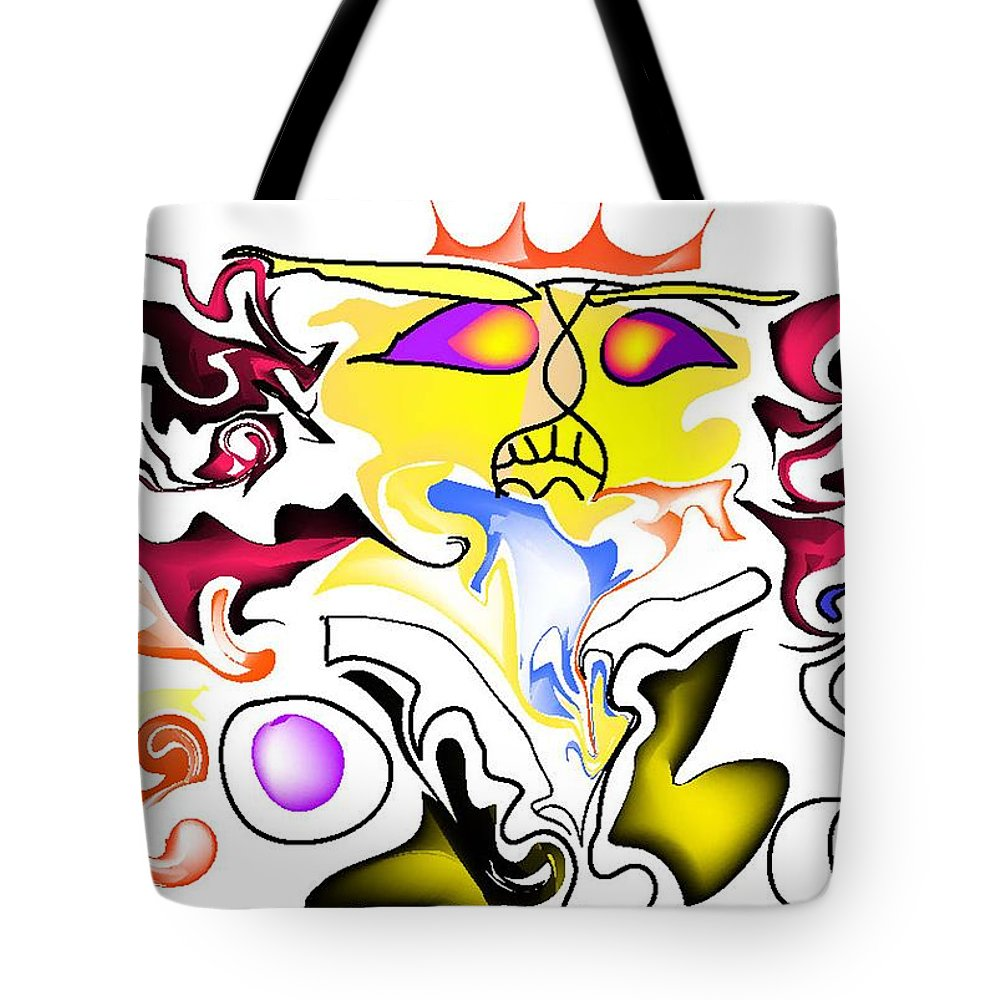 Life's Crazy Tote Bag featuring the digital art Angry Sunset by Andy Cordan