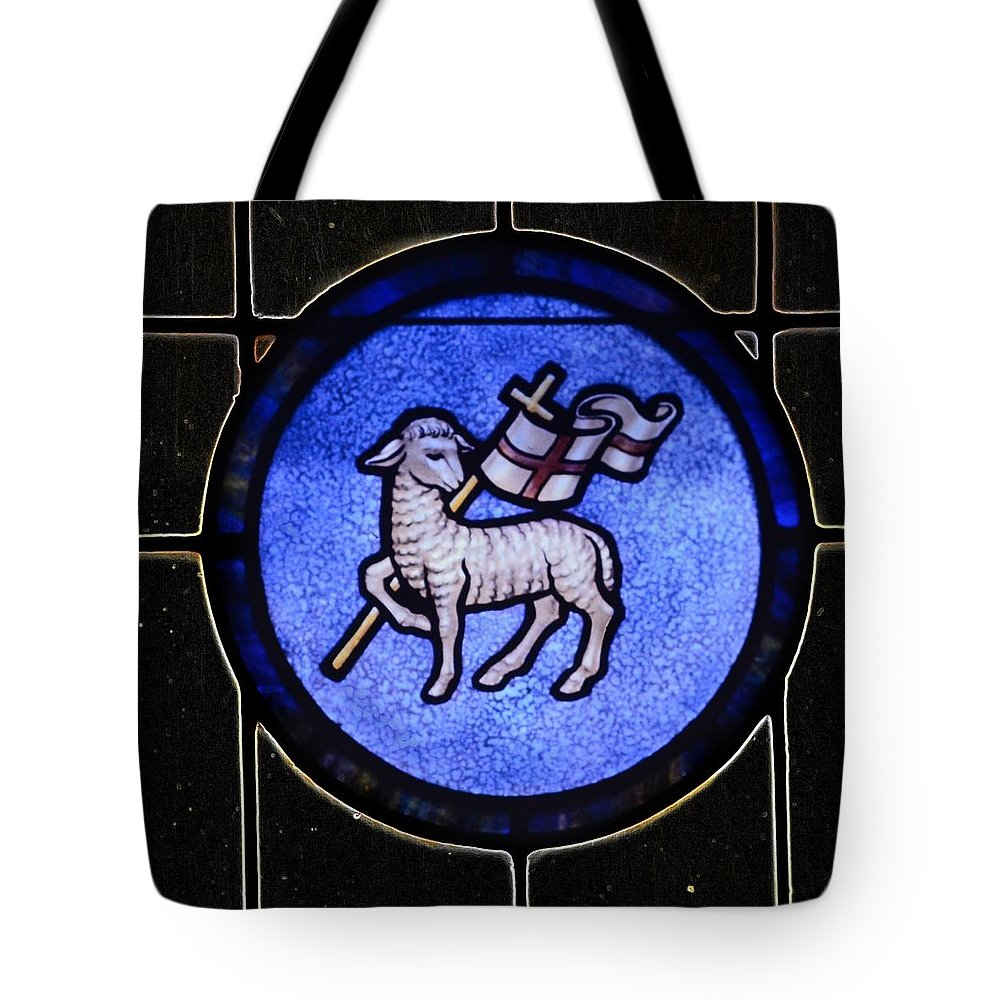 Tote Bag featuring the photograph Angus Dei by John Stokes
