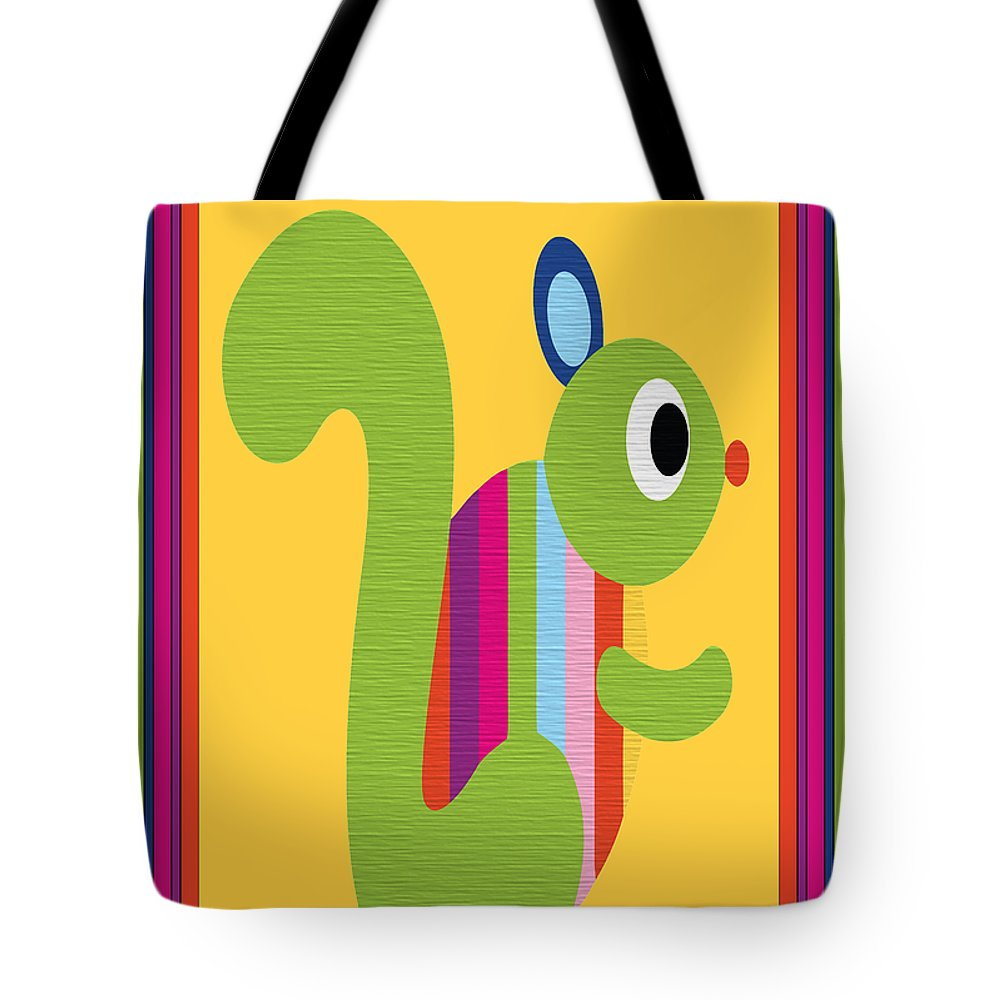Animal Tote Bag featuring the digital art Animal Series 3 by Angelina Vick