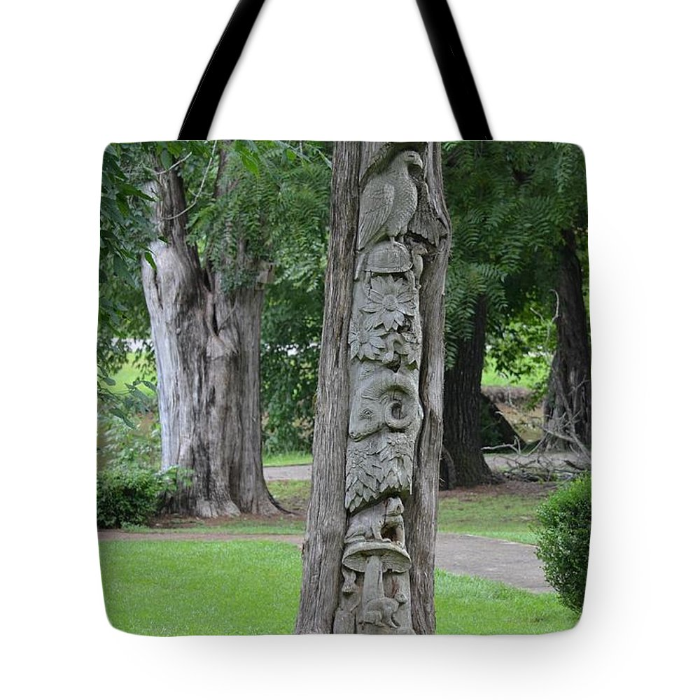 Animal Tree Totem Tote Bag featuring the photograph Animal Tree Totem by Maria Urso