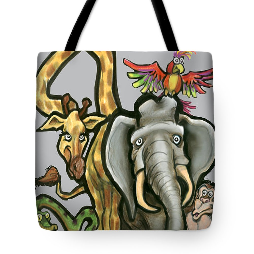 Animal Tote Bag featuring the digital art Animals by Kevin Middleton
