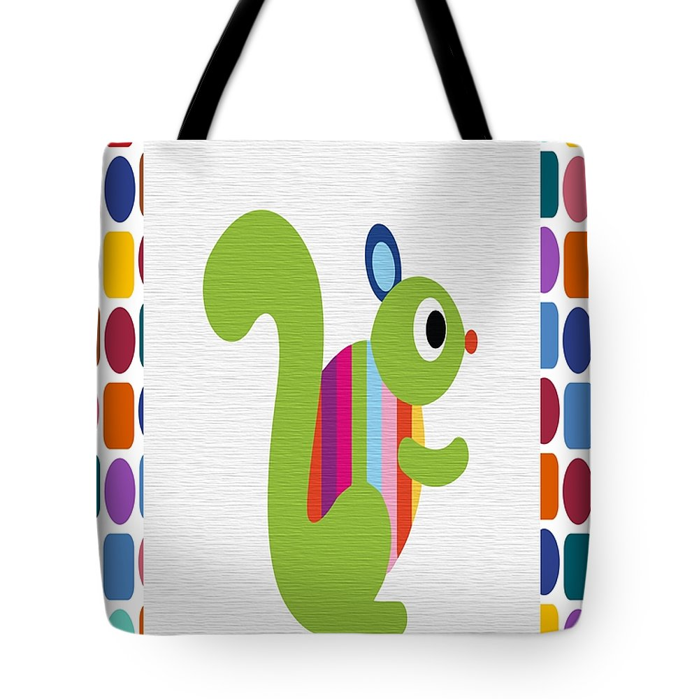 Animal Tote Bag featuring the digital art Animals Whimsical 3 by Angelina Vick