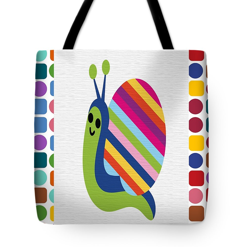 Animal Tote Bag featuring the digital art Animals Whimsical 4 by Angelina Vick