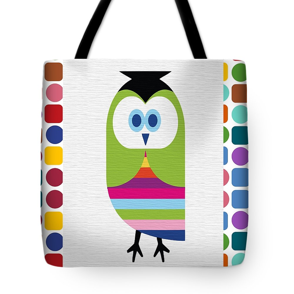 Animal Tote Bag featuring the digital art Animals Whimsical 5 by Angelina Vick
