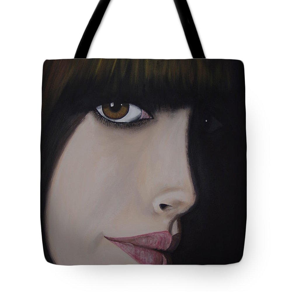 American Actress Tote Bag featuring the painting Anne Hathaway by Dean Stephens