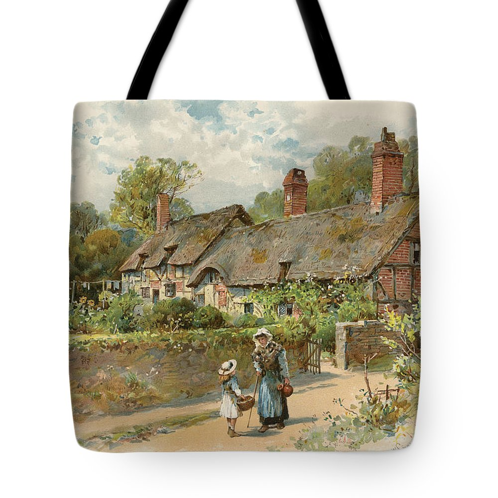 Coleman Tote Bag featuring the Anne Hathaway's Cottage At Shottery by William Stephen Coleman