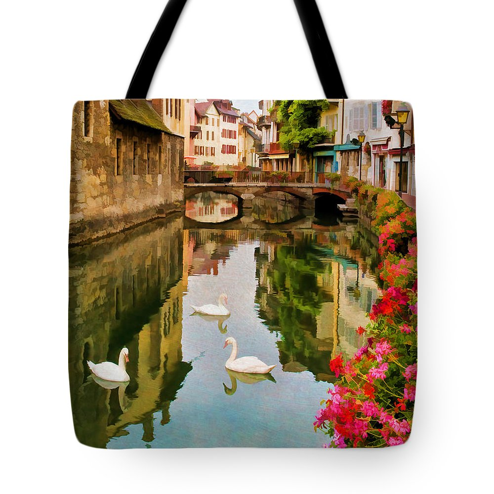 Annecy Tote Bag featuring the photograph Annecy by Jean-Pierre Ducondi