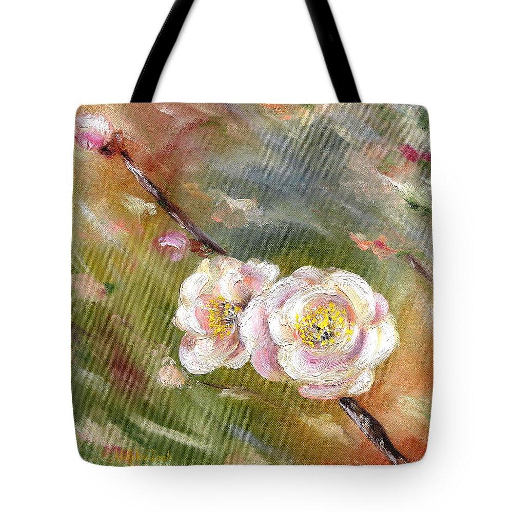Flower Tote Bag featuring the painting Anniversary by Hiroko Sakai