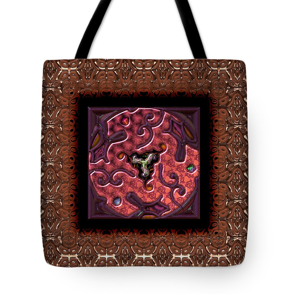 Abstract: Color; Abstract: Geometric Tote Bag featuring the digital art Annuals Poppies by Ann Stretton