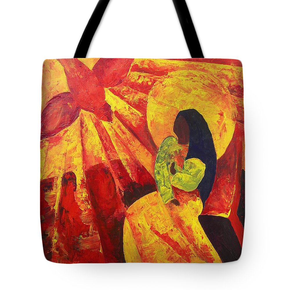 Haiti Tote Bag featuring the painting Annunciation by Patricia Brintle