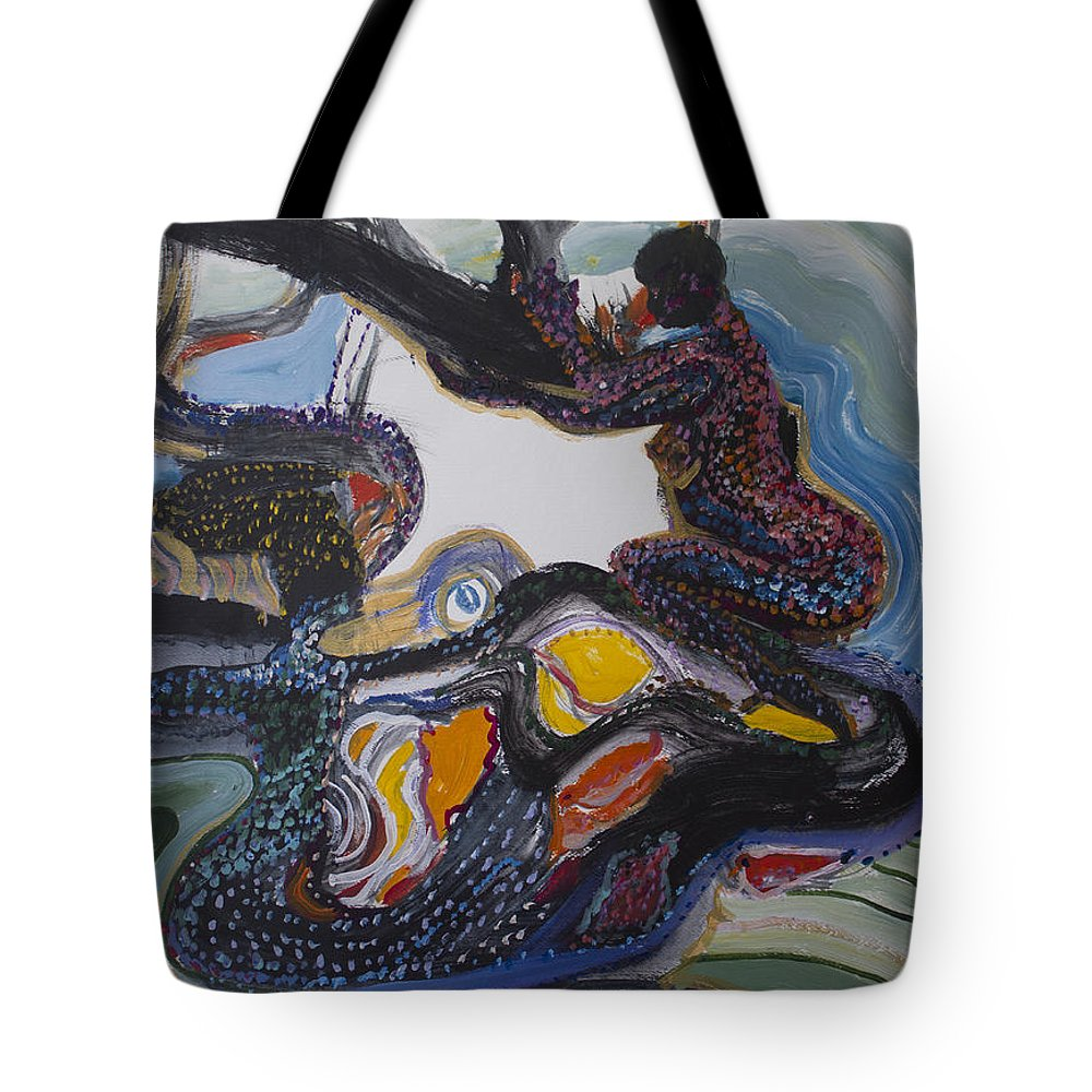 Australia Tote Bag featuring the painting Another Dreamtime by Avonelle Kelsey