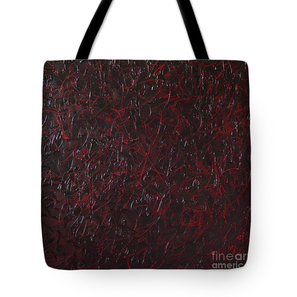 Abstract Tote Bag featuring the painting Another Shedding by Dean Triolo