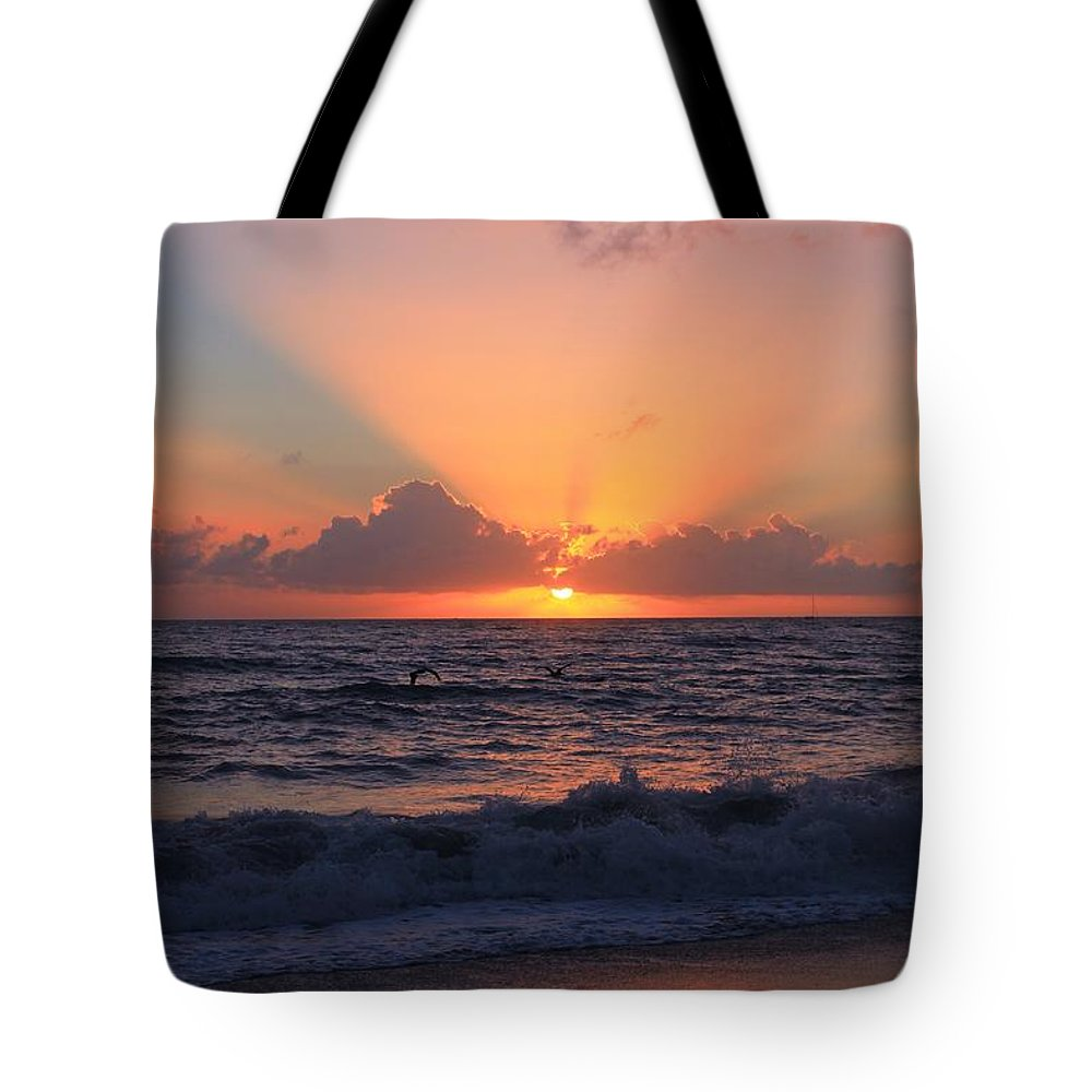 Jupiter Tote Bag featuring the photograph Another Sunrise by Catie Canetti