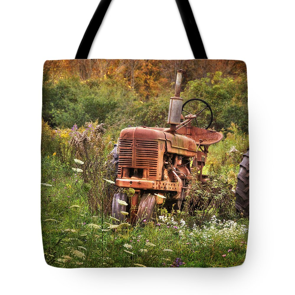 Tractor Tote Bag featuring the photograph Another Time by Lori Deiter