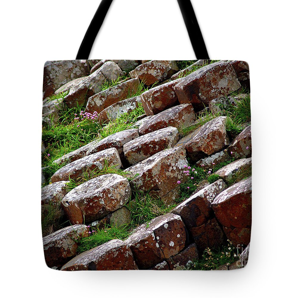 Fine Art Photography Tote Bag featuring the photograph Another View Of The Giant's Causeway by Patricia Griffin Brett