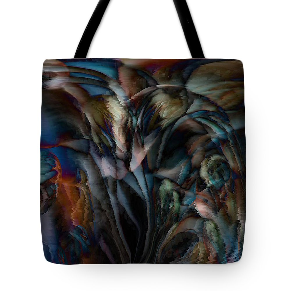 Another World Art Tote Bag featuring the digital art Another World by Linda Sannuti