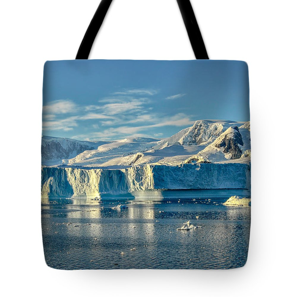 Iceberg Tote Bag featuring the photograph Antarctic Iceberg by Alan Toepfer