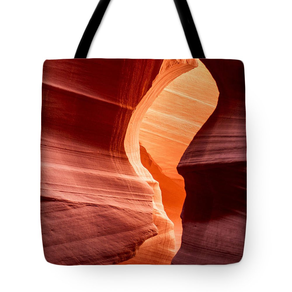 Lower Antelope Canyon Arizona Usa Daniel Knighton Pixel Perfect Cavern Red Orange Rocks Desert Cave Tote Bag featuring the photograph Antelope Canyon by Daniel Knighton