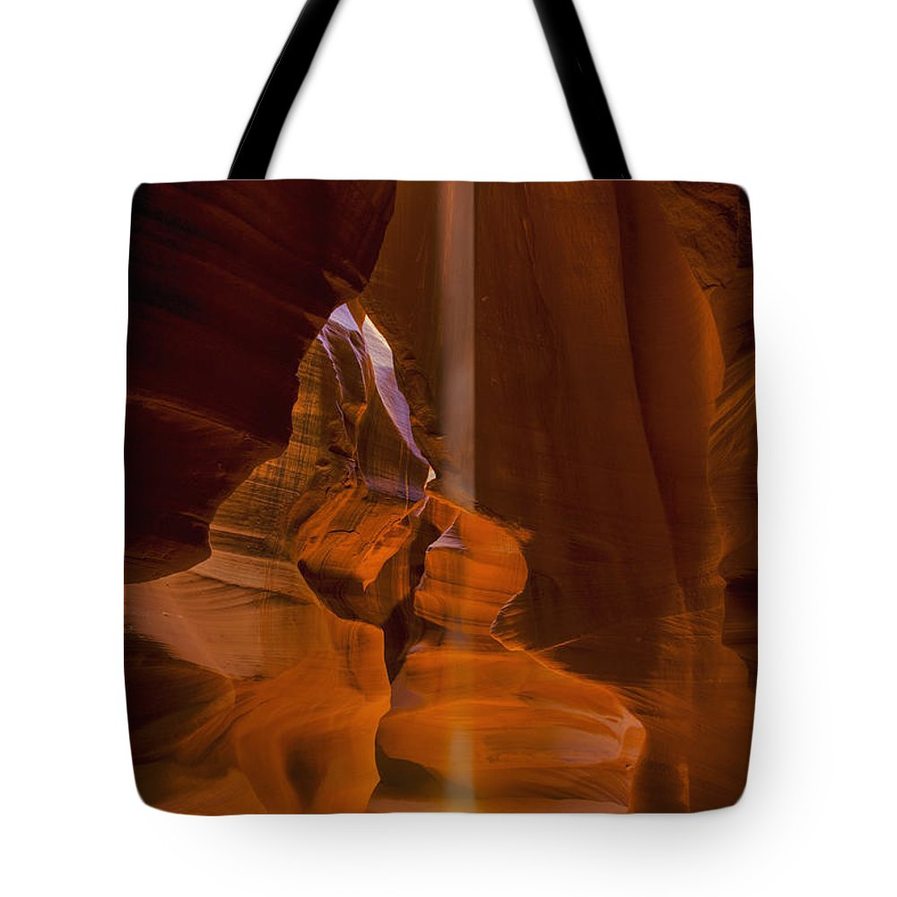 Archeology Tote Bag featuring the photograph Antelope Canyon Utah, United States by Richard Desmarais
