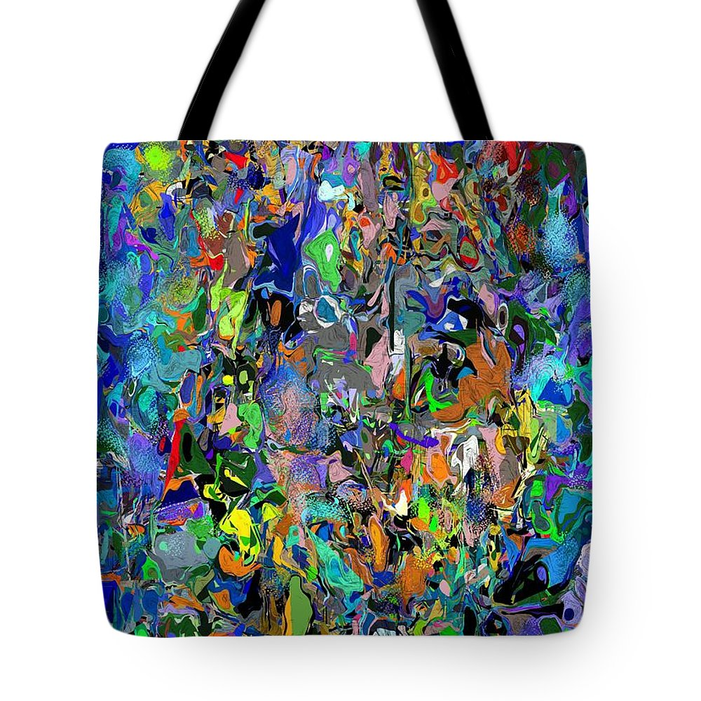 Fine Art Tote Bag featuring the digital art Anthyropolitic 1 by David Lane