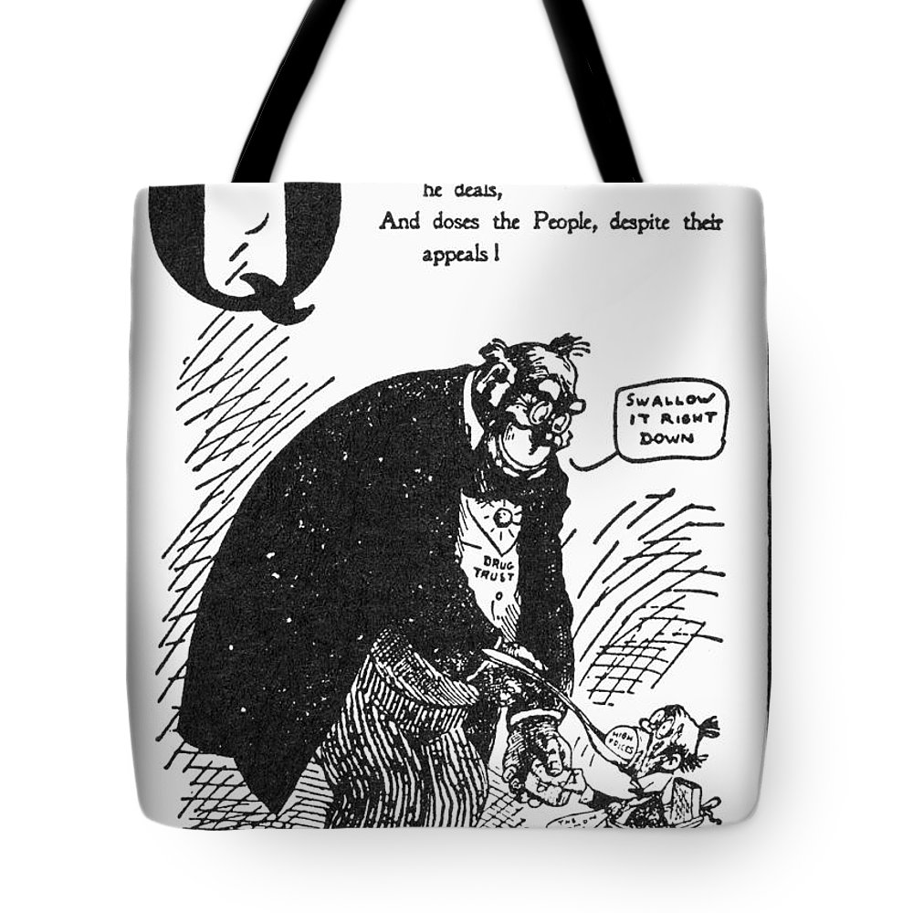 1902 Tote Bag featuring the photograph Anti-trust Cartoon, 1902 by Granger