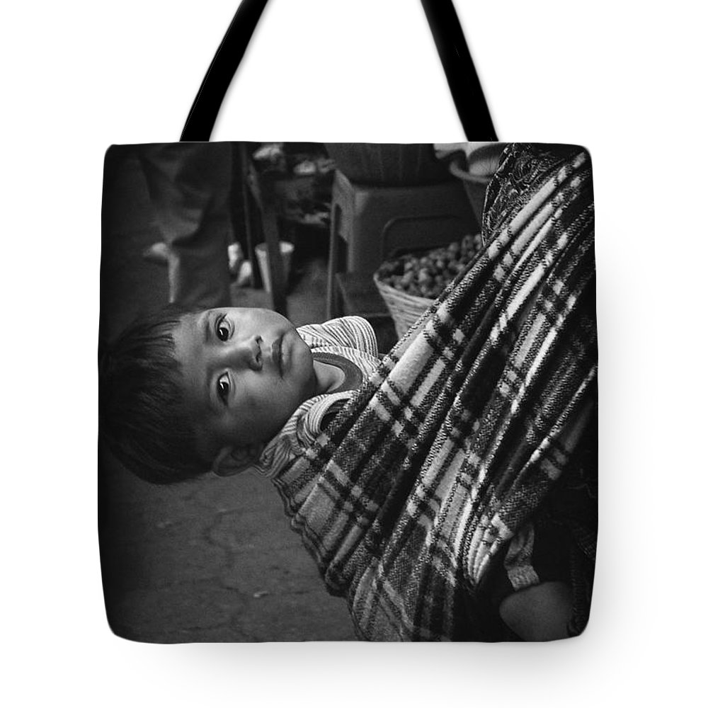 Child Tote Bag featuring the photograph Antigua Child by Tom Bell