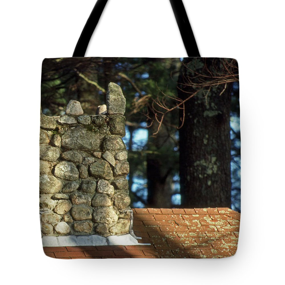 Scenic Tours Tote Bag featuring the photograph Antique Chimney by Skip Willits