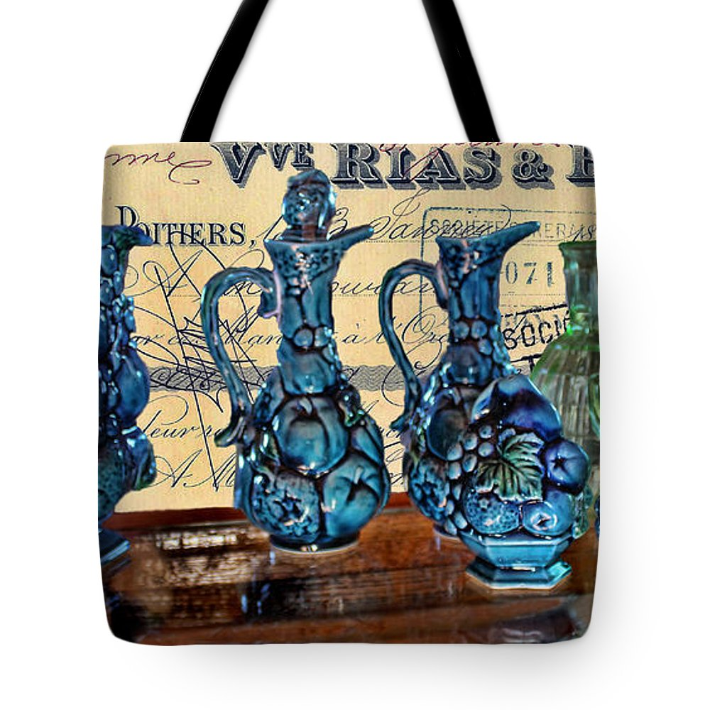 Glassware Tote Bag featuring the photograph Antique Glass by Sylvia Thornton