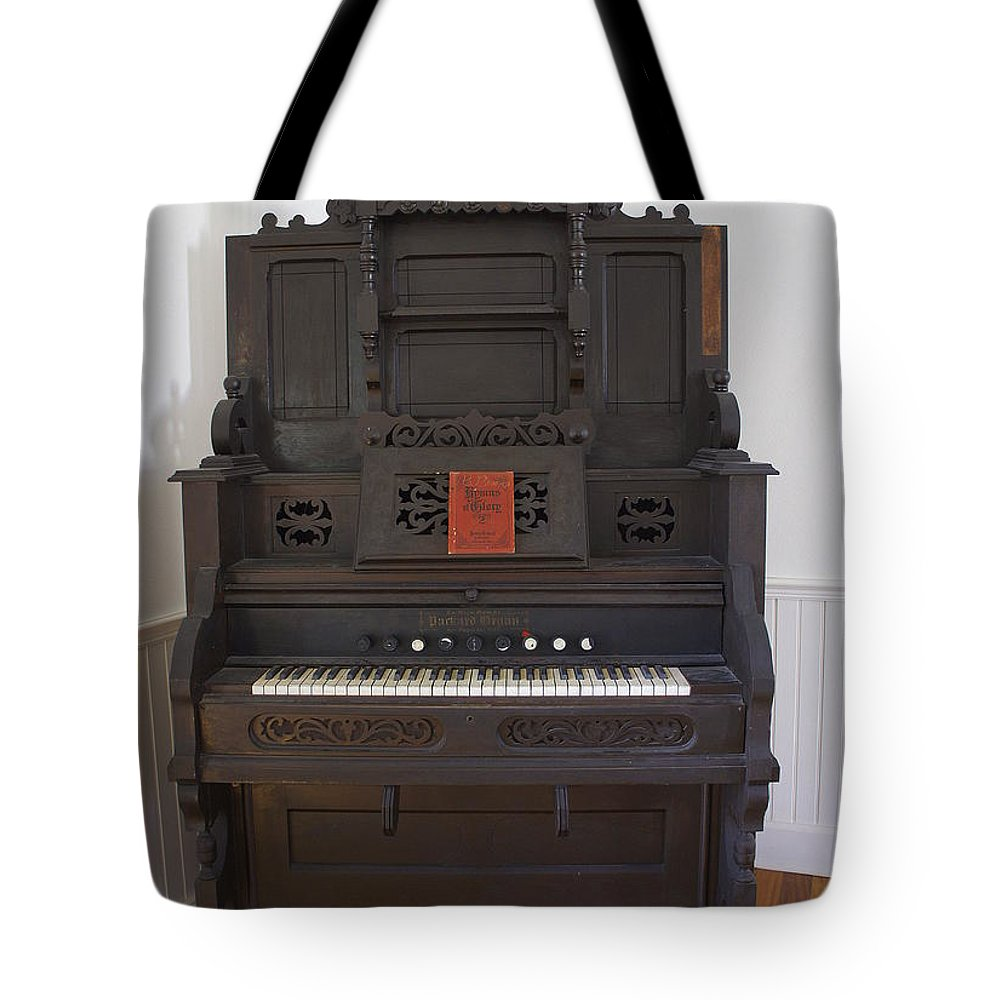 Organ Tote Bag featuring the photograph Antique Organ by Laurie Perry