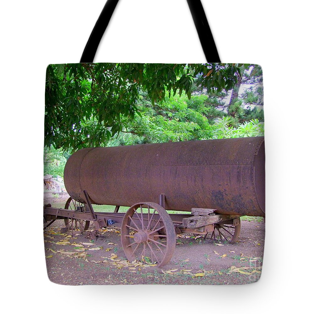 Water Tank Tote Bag featuring the photograph Antique Water Tank - No 2 by Mary Deal