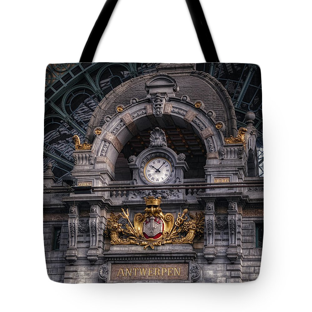 Joan Carroll Tote Bag featuring the photograph Antwerp Central by Joan Carroll