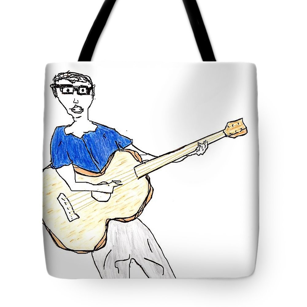 Jim Taylor Tote Bag featuring the painting Any Requests by Jim Taylor