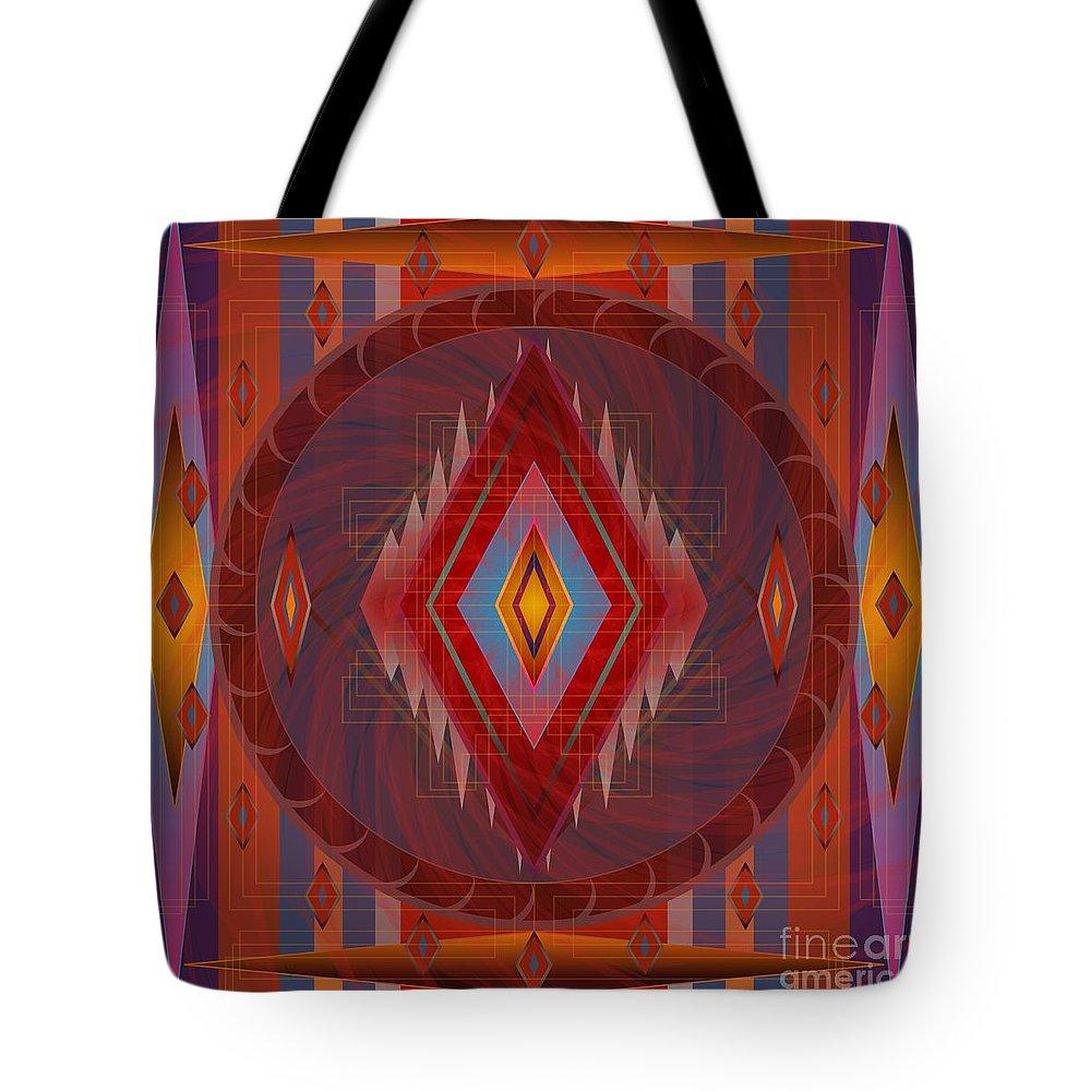 Digital Tote Bag featuring the digital art Apache Wind 2012 by Kathryn Strick