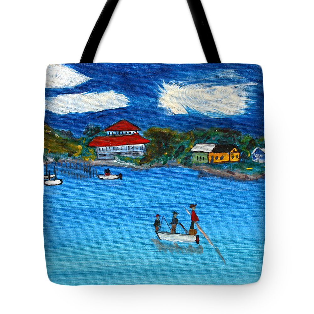 Apalachicola Tote Bag featuring the painting Apalach by Maura Satchell