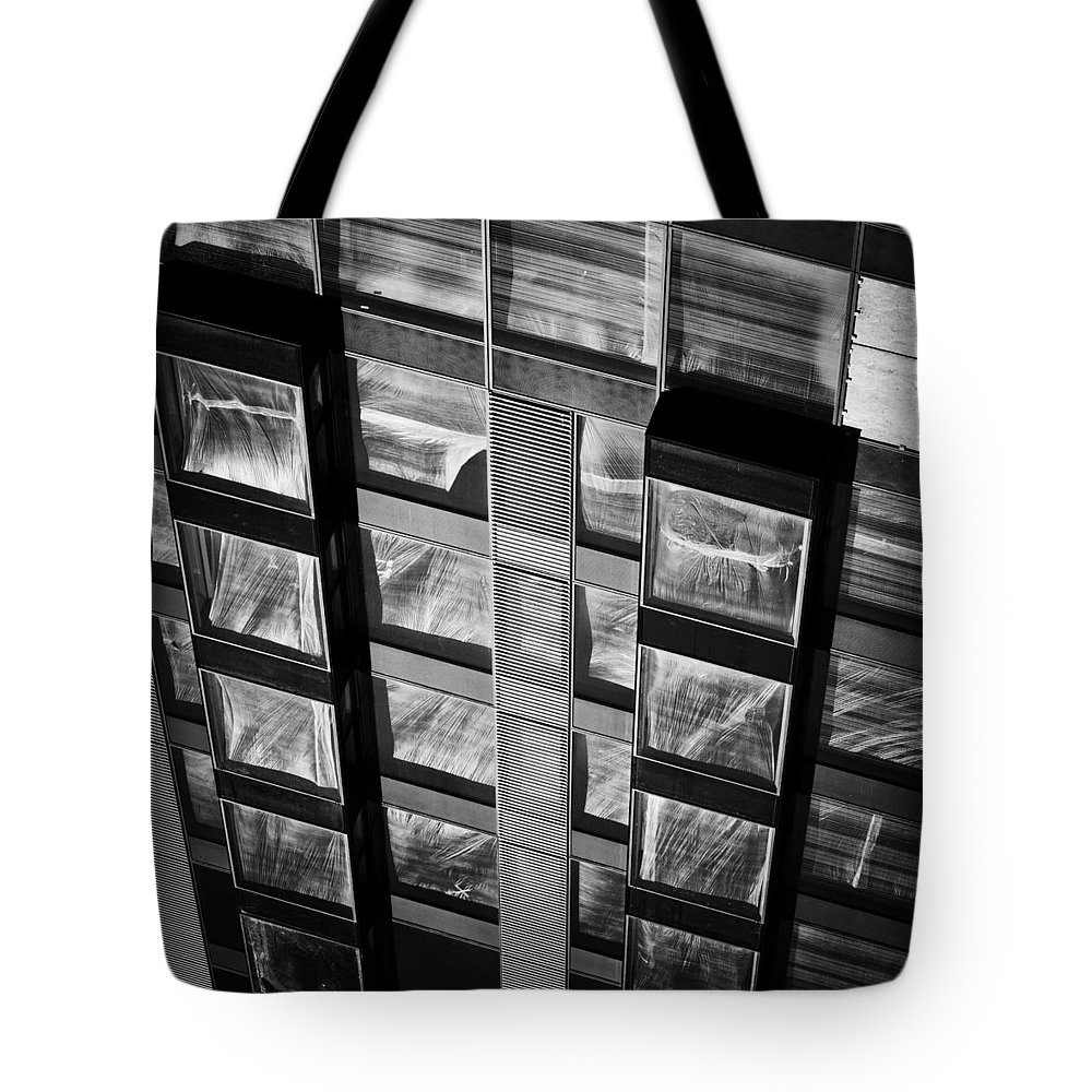 Bw Tote Bag featuring the photograph Apartment Building Modern Facade by Artur Bogacki