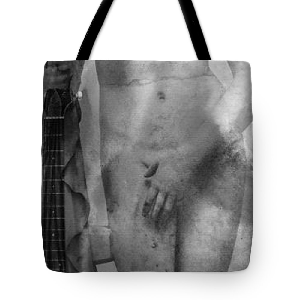 Sharon Cummings Tote Bag featuring the painting Aphrodite's First Love 2 - Guitar Art By Sharon Cummings by Sharon Cummings