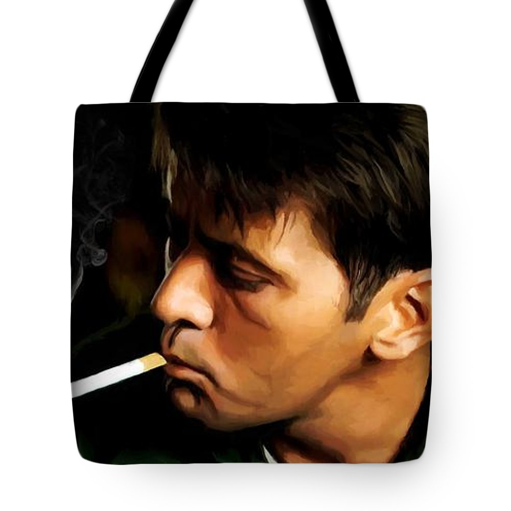 Martin Sheen Tote Bag featuring the digital art Apocalypse Now Painting #1 by Gabriel T Toro