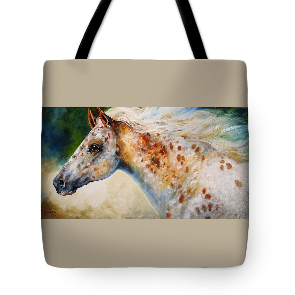 Appaloosa Tote Bag featuring the painting Appaloosa Spirit 3618 by Marcia Baldwin