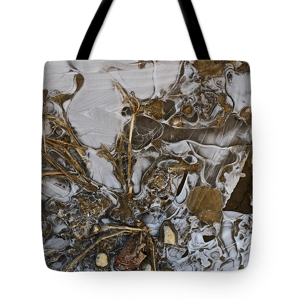 Ice Tote Bag featuring the photograph Apparitions On Ice by Susan Capuano